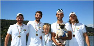 Porcelli e l'equipaggio campione tricolore